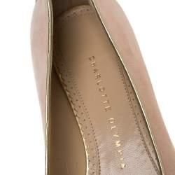 حذاء باليرينا فلات شارلوت أوليمبيا سويدي خوخي برج السرطان مقاس 37