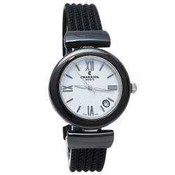 Charriol White Ceramic & Stainless Steel Rubber AEL AE33CB.173.004 Women's Wristwatch 33 mm