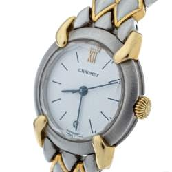 Chaumet White 18K Yellow Gold Stainless Steel Women's Wristwatch 25 mm