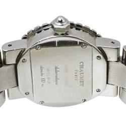 Chaumet Beige Stainless Steel Diamonds Class One 628 Women's Wristwatch 36MM