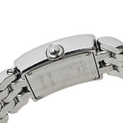 Chaumet Cream Stainless Steel Diamonds Khesis Quartz Women's Wristwatch 21 mm