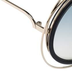 """نظارة شمسية كلوي """"سي إي120أس كارلينا"""" مستديرة غرادينت ذهبي و رصاصي و سموكي"""