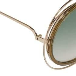 Chloé Gold & Khaki / Green Gradient CE 120/S Carlina Round Sunglasses