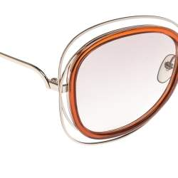 Chloé Caramel/ Light Brown Gradient CE123S Carlina Oversized Sunglasses