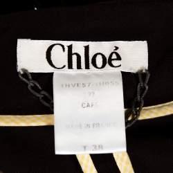 Chloe Vintage Brown Cotton Corset Blazer M