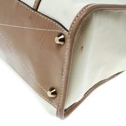 Chloe Beige/Brown Leather Susan Top Handle Bag