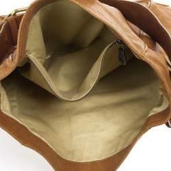 Chloe Brown Leather Tassel Hobo Bag