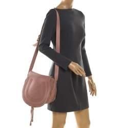 Chloe Blush Pink Leather Medium Marcie Crossbody Bag