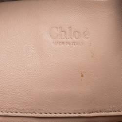 Chloe Brown Python and Leather Envelope Shoulder Bag