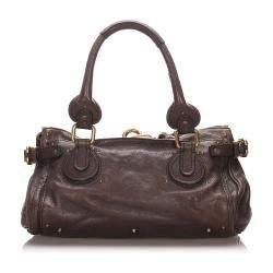 Chloe Brown Leather Paddington Satchel