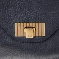 Chloe Black Grained Leather Sally Clutch