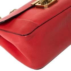 Chloe Orange Leather Medium Elsie Shoulder Bag