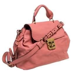 Chloe Cinnamon Rose Leather Elsie Top Handle Bag