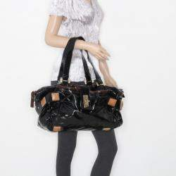 Chloe Black Patent Leather 'Audra' Tote