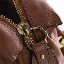 Chloe Brown Leather Paraty Satchel Bag