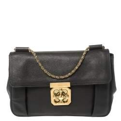 Chloe Back Leather Medium Elsie Shoulder Bag