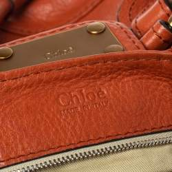 Chloe Burnt Orange Leather Paddington Satchel