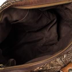 حقيبة كلوي سيلفاردو جلد سينامون حمراء
