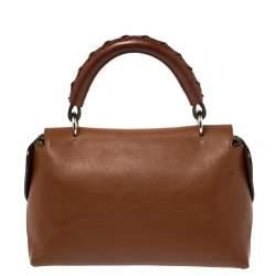 Chloe Brown Leather Top Handle Bag