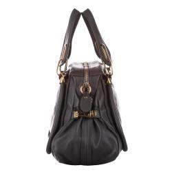 Chloe Black Leather Paraty Satchel Bag