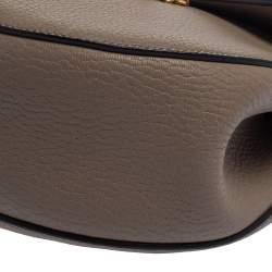 Chloe Grey Leather Medium Drew Shoulder Bag