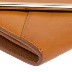 Chloé Brown Leather Envelope Wallet