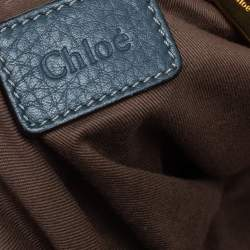 Chloe Steel Blue Leather Large Marcie Hobo