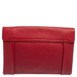 Chloe Red Leather Elsie Clutch