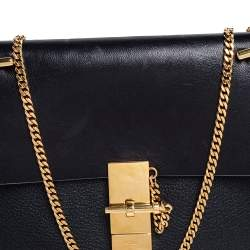 Chloe Black Leather Medium Drew Shoulder Bag