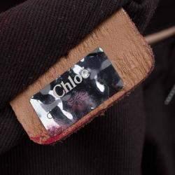 Chloe Bown Python Snap Pocket Tote