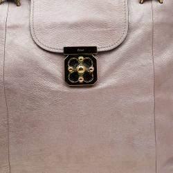Chloe Metallic Leather Elsie Large Bowling Bag