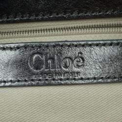 Chloe Metallic Grey Python Silverado Satchel