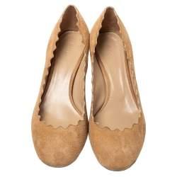 Chloé Beige Suede Lauren Pumps Size 36.5