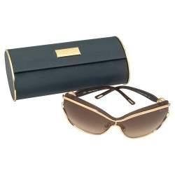 Chopard Copper Gold/Brown Gradient SCHA61S Shield Sunglasses