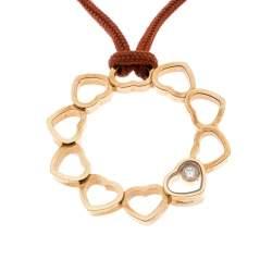 Chopard Happy Diamond Multi Heart 18k Yellow Gold Open Medallion Pendant