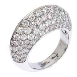 Chopard Diamond Brown Diamond 18K White Gold Knife Edge Cocktail Ring Size 54.5