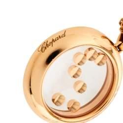 Chopard Happy Diamonds Happy Curves Diamond 18K Rose Gold Double Strand Pendant Necklace