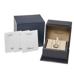 Chopard Happy Sun Moon and Stars Diamond 18K White Gold Double Strand Pendant Necklace