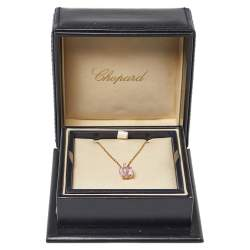 Chopard So Happy Diamond Synthetic Color Stone 18K Yellow Gold Pendant Necklace