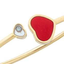 Chopard Happy Hearts Red Stone Diamond 18K Rose Gold Bangle S