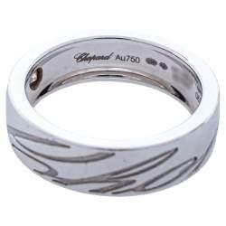Chopard Chopardissimo Diamond 18K White Gold Band Ring Size 55