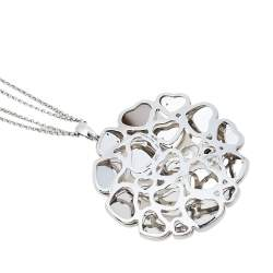 Chopard Happy Hearts Diamond 18K White Gold Cocktail Pendant Necklace