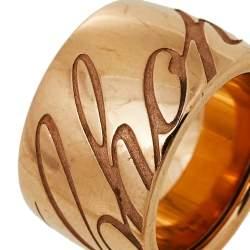 Chopard Rose Gold Chopardissimo Band Ring Size EU 52.50