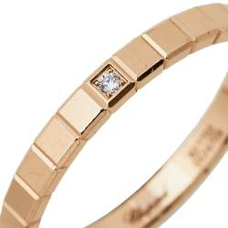 Chopard Ice Cube Pure Diamond 18K Rose Gold Ring 57
