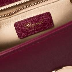 Chopard Dark Pink Leather Happy Lady Top Handle Bag