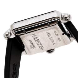 Chopard Silver Stainless Steel Rubber Be Happy 2 27/8896-401 Women's Wristwatch 27 mm