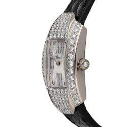 Chopard Silver Diamond 18K White Gold La Strada 4585 Women's Wristwatch 44.5 x 26 MM