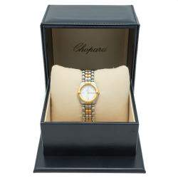Chopard White Dial GSTAAD Steel & Yellow Gold Vintage Women's Watch 24 MM