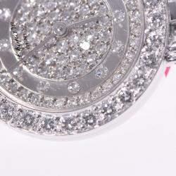 Chopard Silver Diamond White Gold 10/5603 Women's Wristwatch 21 MM