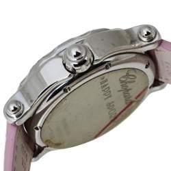 Chopard Pink Stainless Steel Diamonds Love Happy Sport 28/8950-401 Women's Wristwatch 38 MM